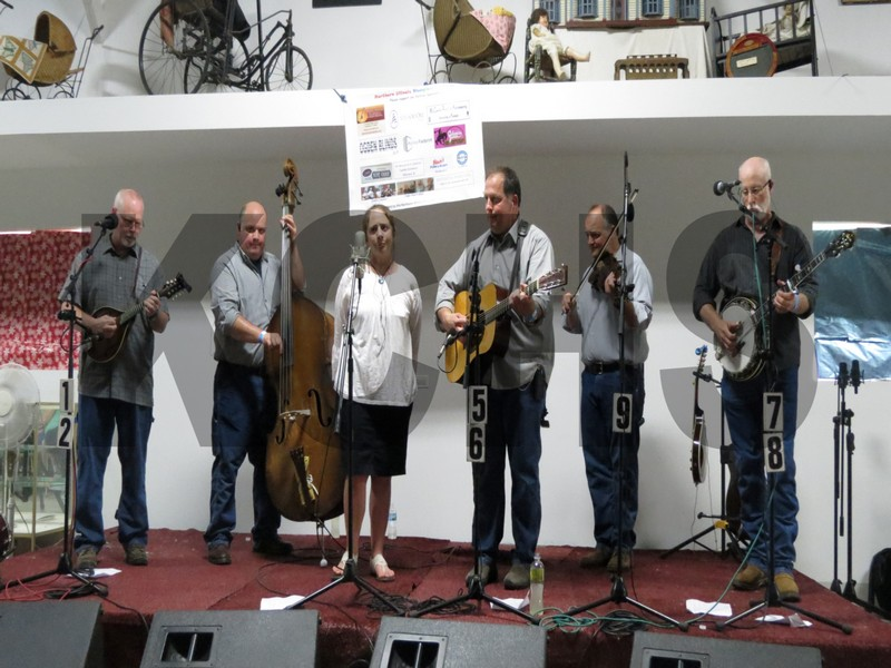 Mackville performing at the bluegrass festival